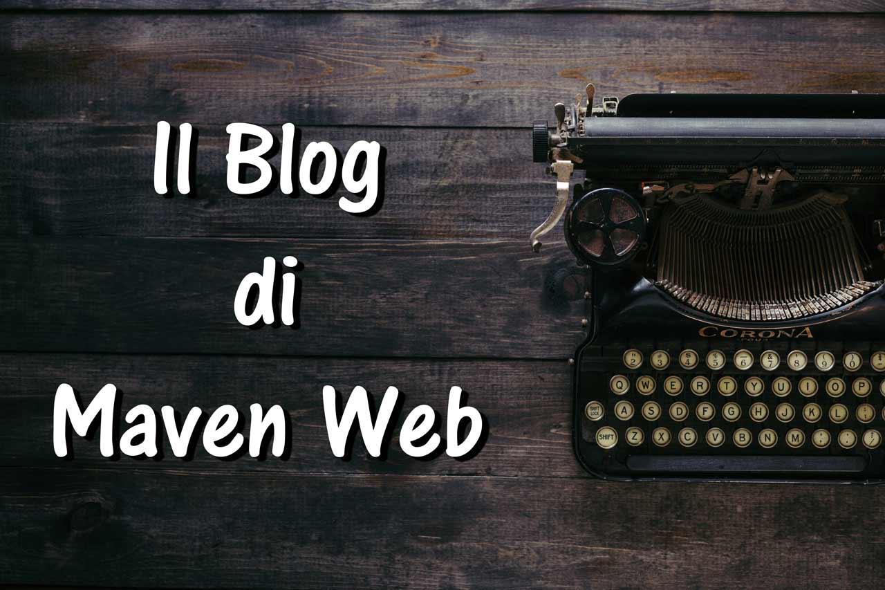 copertina del blog con macchina da scrivere