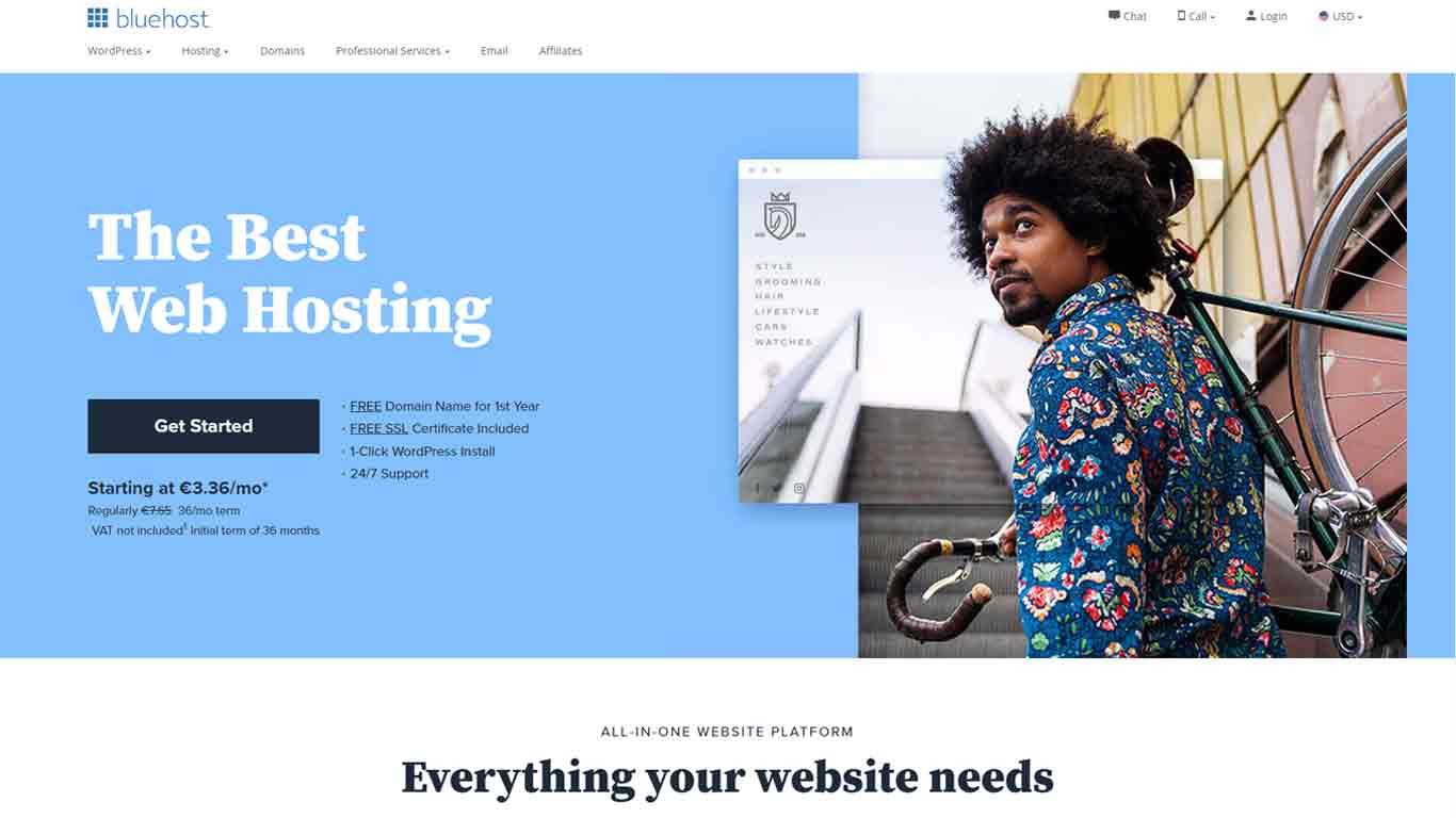 bluehost hosting 2020