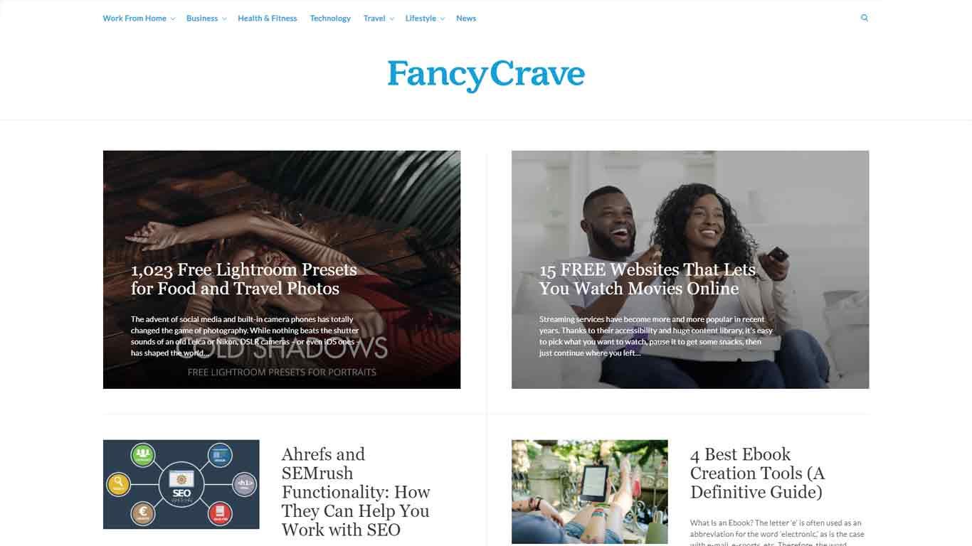 fancycrave.com homepage