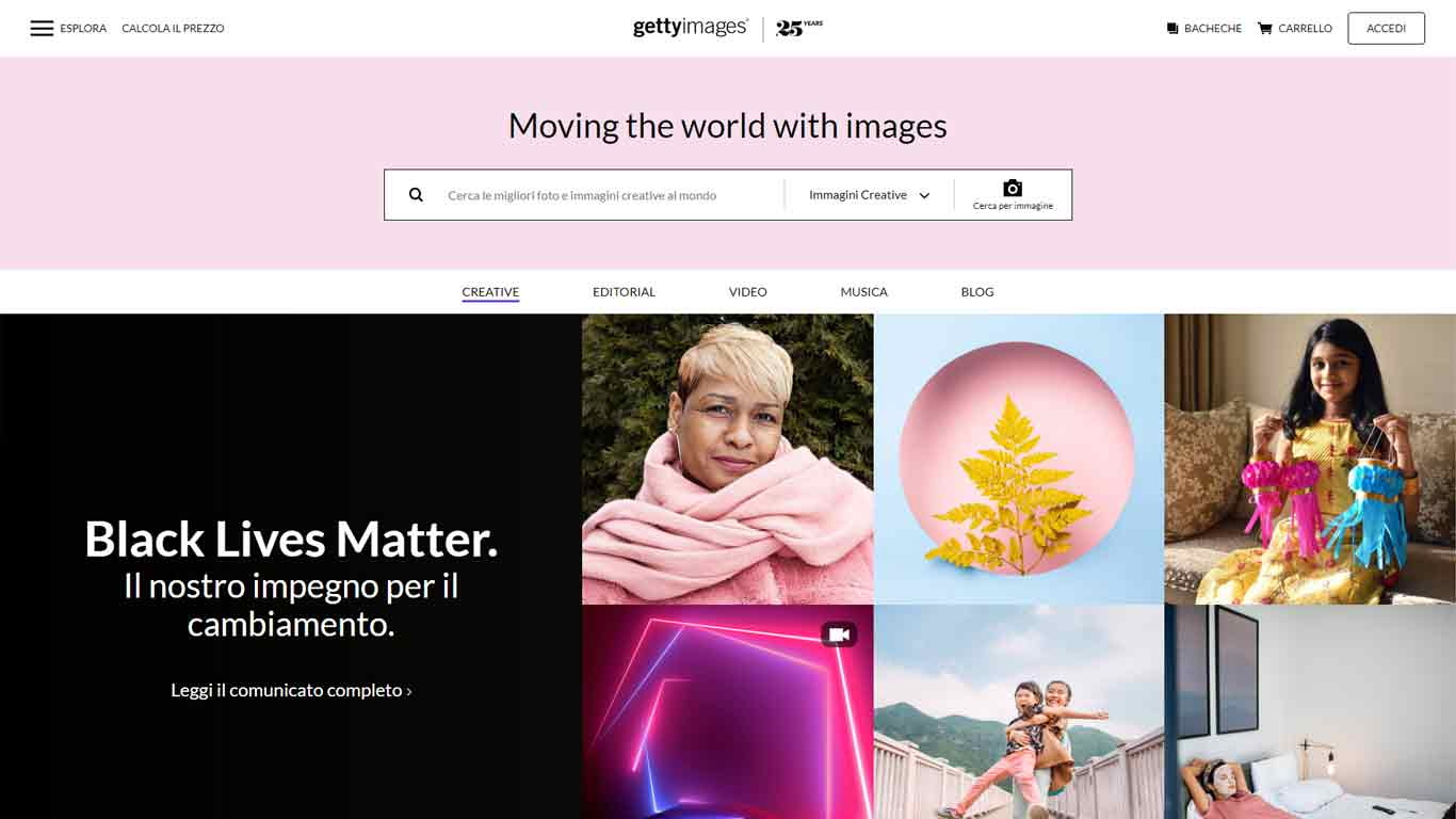 gettyimages homepage