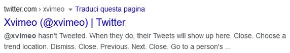 terzo risultato della serp di xvimeo con google