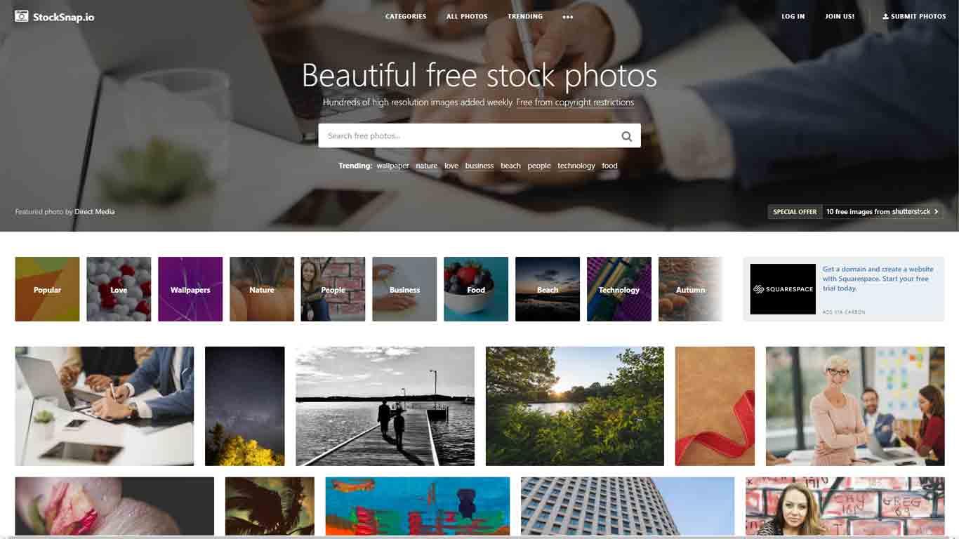 homepage di stocksnap