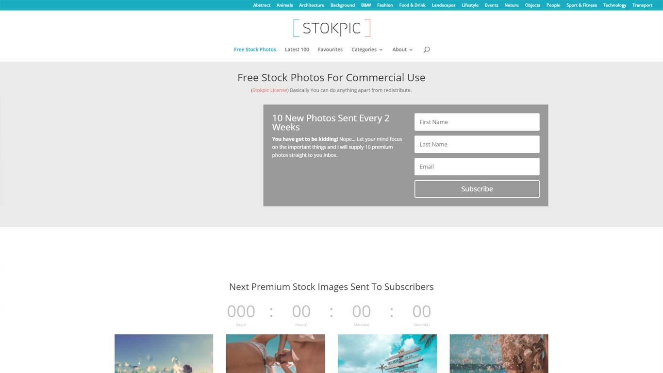 home page di stokpic