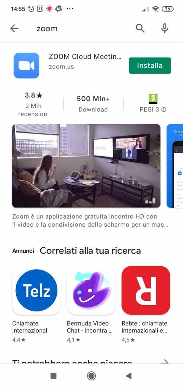 come installare Zoom in italiano